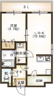 再 米山3丁目  Dタイプ5号室.JPG