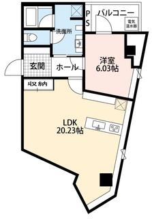 1LDK 2号室 収納.jpg